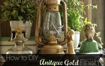 how to diy antique gold finish lantern, painting