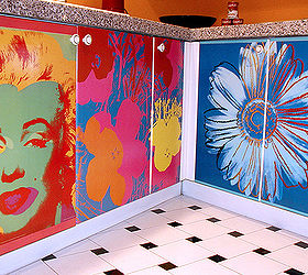 Decoupage Kitchen Cabinets With Andy Warhol Posters Hometalk : decoupage kitchen cabinets - Cheerinfomania.Com