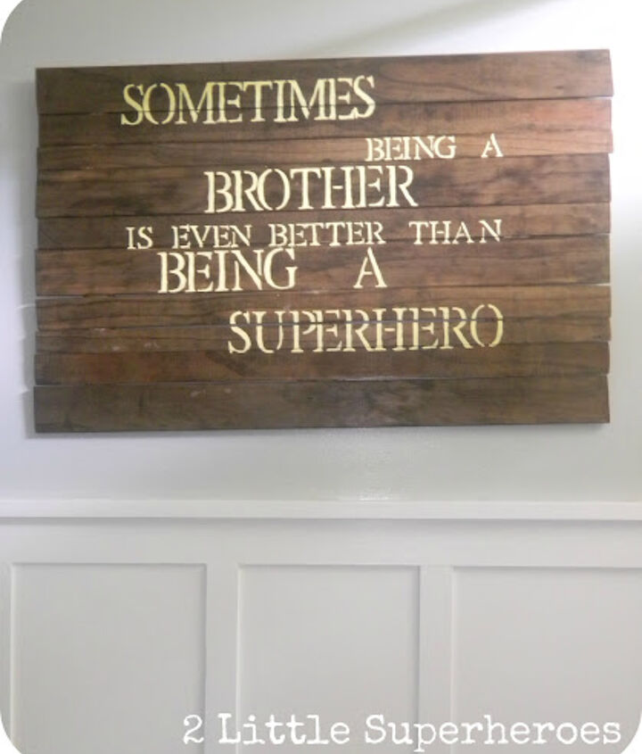 DIY Boy Superhero Art Work