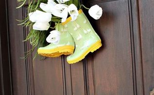 super cute diy spring door decor, doors, seasonal holiday decor