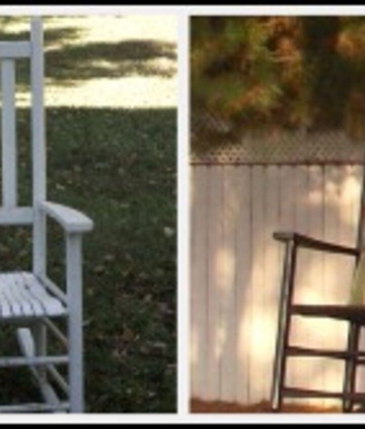 The rocking chair got a paint job.