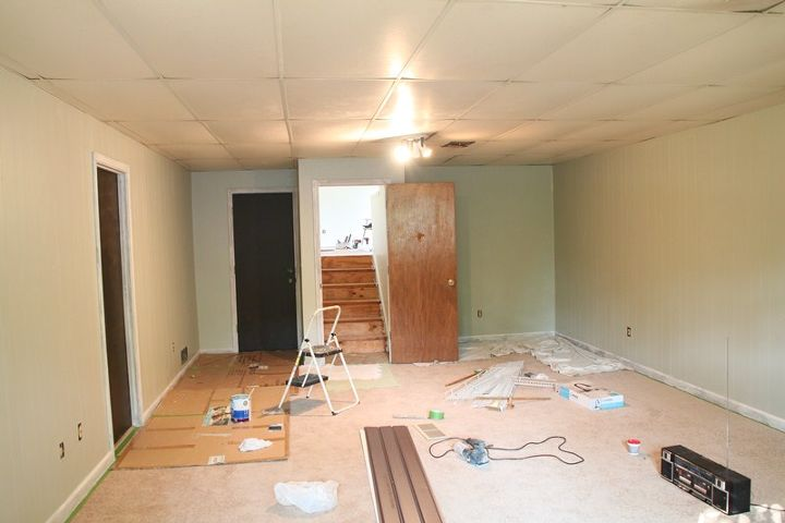 q updating a dropped ceiling, home maintenance repairs, tiling