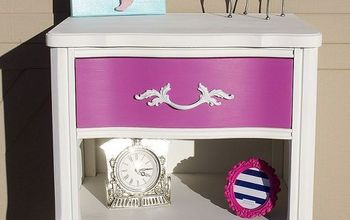 Beautiful Pink French Provincial Side Table
