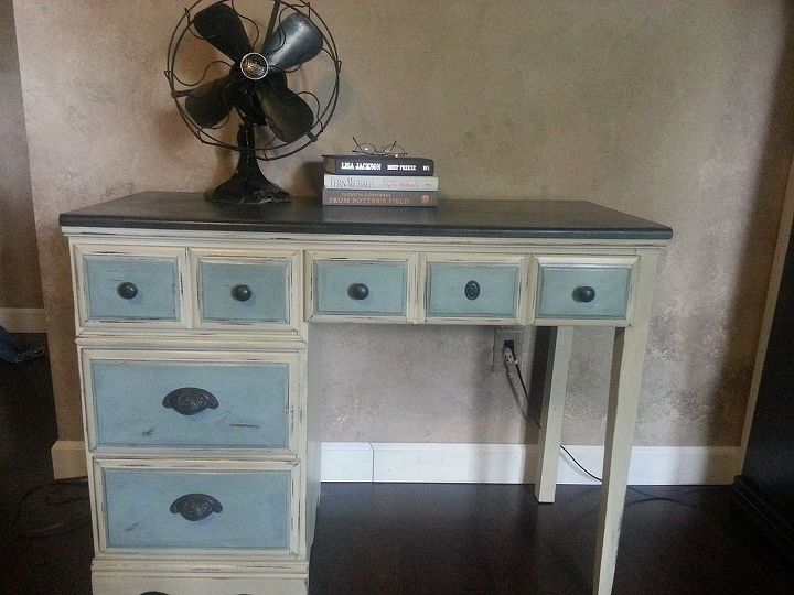 desk renovation, painted furniture, Ready to use