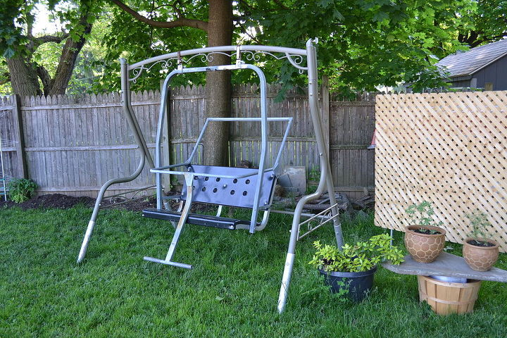 ski lift backyard swing, outdoor furniture, outdoor living, painted furniture