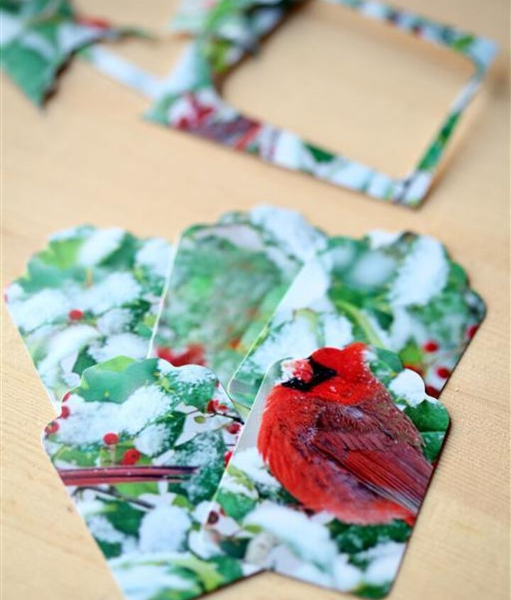 recycling cards into gift tags, crafts, repurposing upcycling