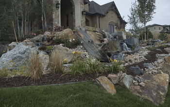 build a pond less in a day, landscape, A big plain front yard gets a makeover in one day