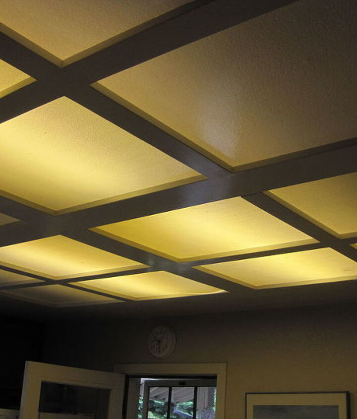 Before- This yellowish recessed fluorescent lighting just wasn't enough.