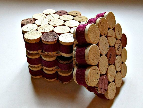 5. Wine Corks - I have actually made a set like this. I will post them later. I love this idea! I also love that you can customize them with different types of ribbon to make them work for any room or household. These would also...