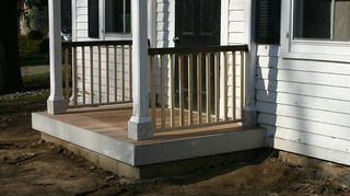 is it possible to have a deck smooth enough to dance pivot amp slide that can, decks, Railing on and prepping for paint and stain finish