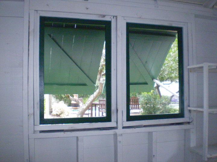 Batten shutters over screens from the inside