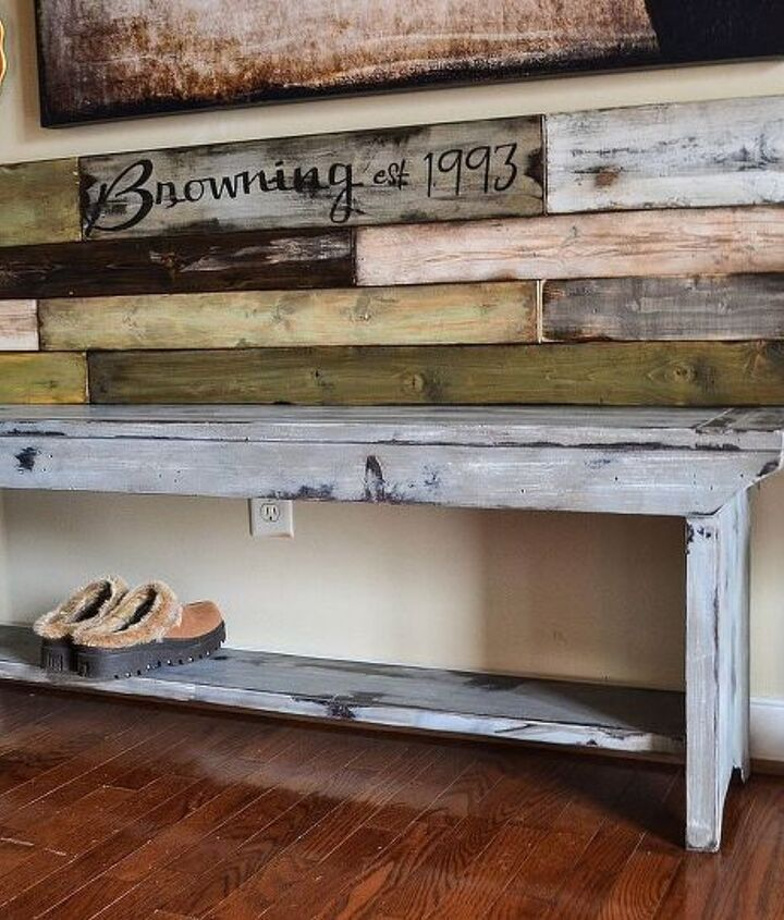 Like the bench back? See http://downtoearthstyle.blogspot.com/2013/10/rustic-bench-back-in-foyer.html