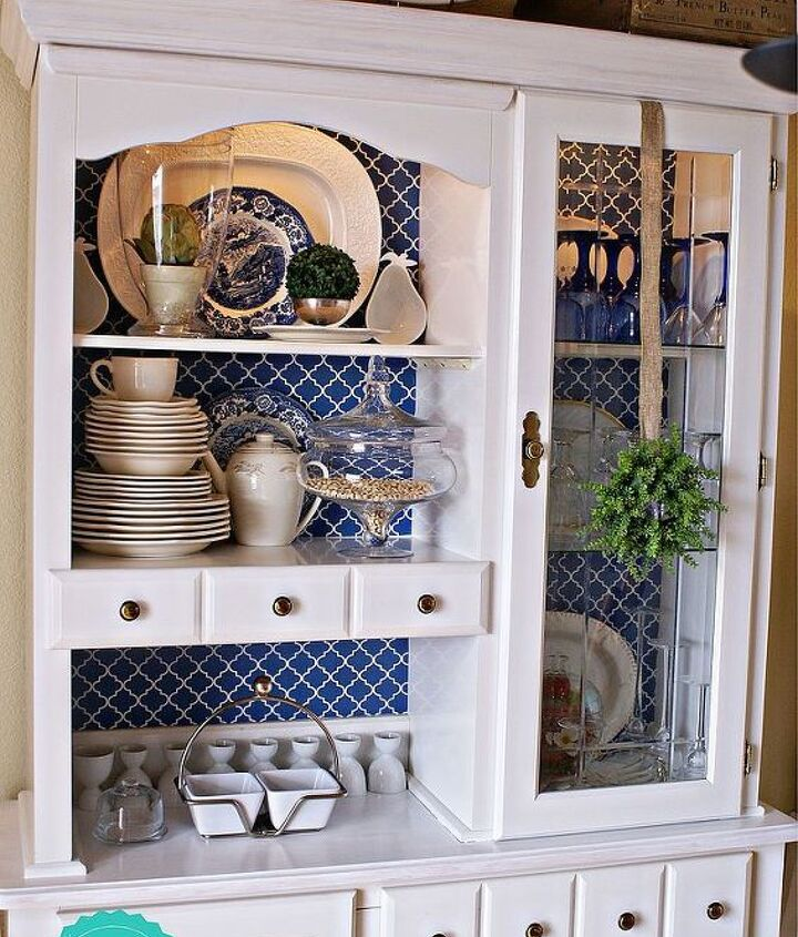 bringing our hutch up to 2013, painted furniture