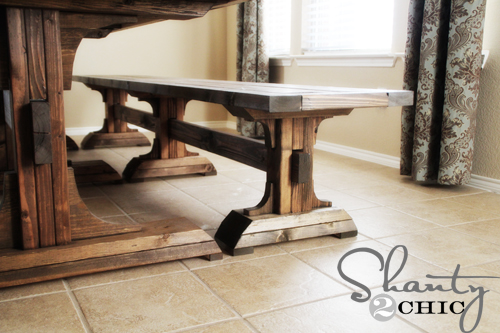 Diy Dining Table And Benches Painted Furniture