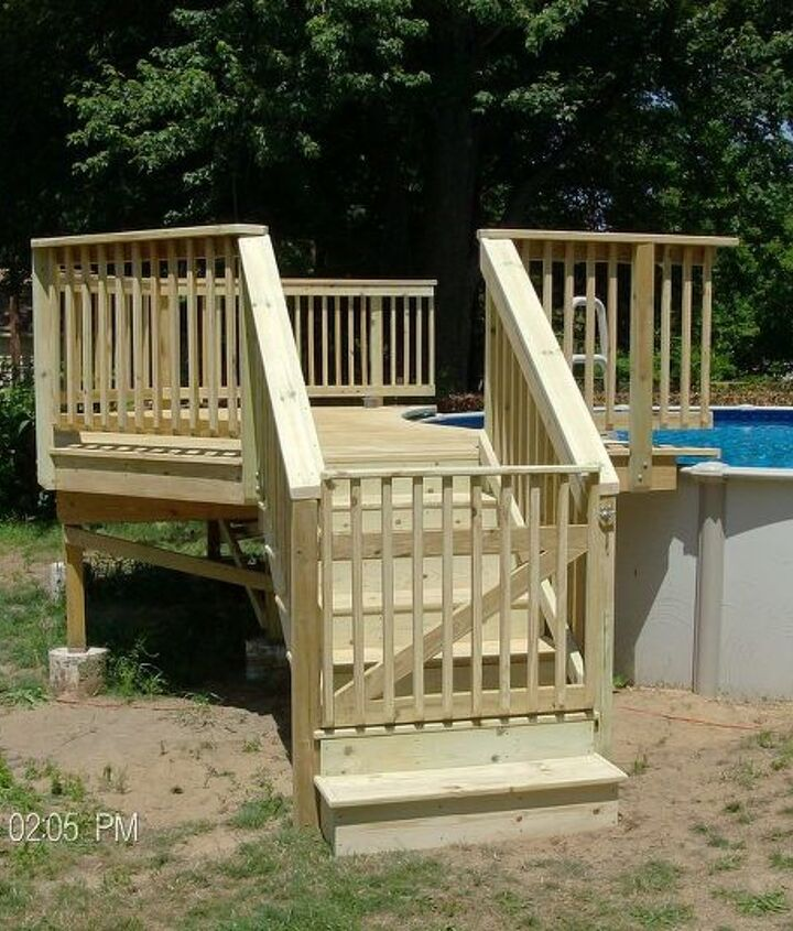 Deck completed and safety gate installed.