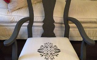 painting fabric with chalk paint, chalk paint, painted furniture, reupholster