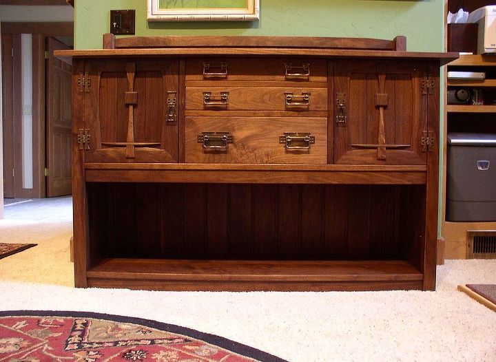 The recreated sideboard