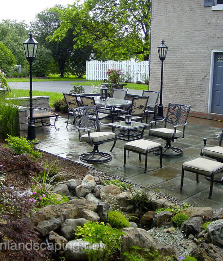 Stone and Brick Patio, Repair, LED Lighting, Water Feature and Landscaping in Brighton NY, Patio Designer Brighton NY, Landscape Designer Brighton NY by AcornLandscaping, Certified Aquascape Contractor of Rochester NY 585-442-6373
