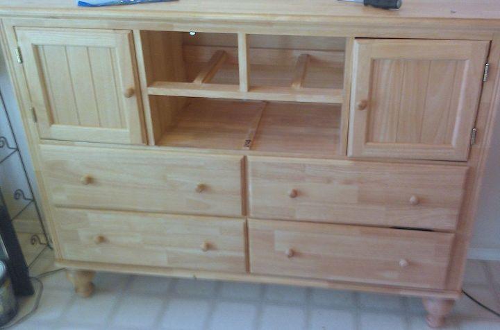 dresser makeover, painted furniture