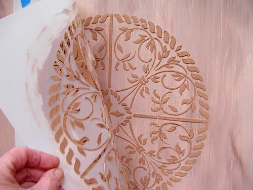 create raised designs on just about anything with plaster stencils, crafts, painted furniture