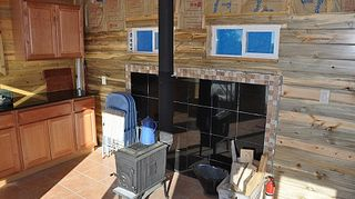 q i am looking for some ideas for using rock behind under my new wood burning stove on, appliances, doors, kitchen design, painting, wood stove install