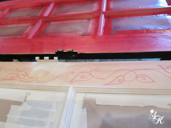 sk s lace french painted lady doors, doors, painting, repurposing upcycling