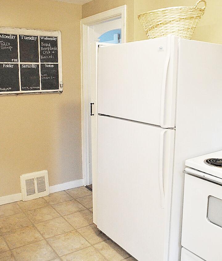 Hidden next the fridge!