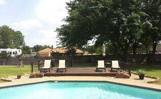 backyard paradise, decks, flowers, gardening, outdoor living, pool designs, Our New Deck