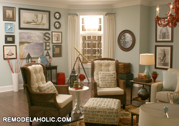 The wicker wing back chairs were my favorite pieces of furniture in the room.