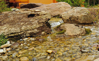 pondless waterfalls and landscaping jarrettsville md, outdoor living, ponds water features, The new welcoming pondless mountain stream