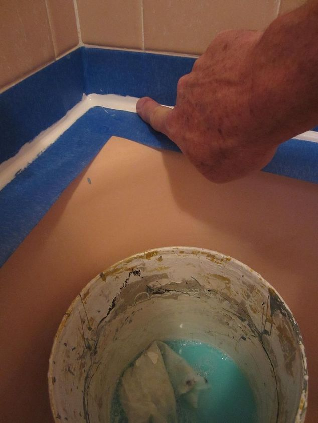 what to do about that leaky shower and tub caulking once and for all best charles, home maintenance repairs, how to, Put a big squirt of dish washing liquid in a quart of water and throw in a small rag Keeping your fingers wet in the super saturated soap solution finger the caulking smooth