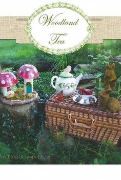 woodland tea party easy and inexpensive diy projects, crafts, outdoor living, an outdoor setting
