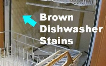 Clean Brown Dishwasher Stains