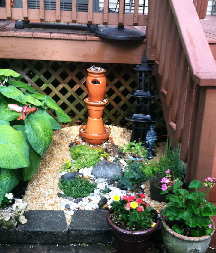 Our New Water Fountain and Rock Garden