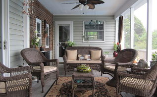 back porch to outdoor room, decks, doors, garages, outdoor living, patio, porches, Inviting and relaxing