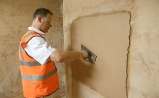 how to mix and apply finishing plaster, diy, home maintenance repairs, how to, wall decor, Applying a finishing plaster