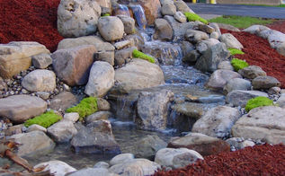 pondless waterfalls rochester ny design, landscape, ponds water features, Acorn Designs Pondless Waterfalls in Rochester NY with LED Low Voltage Landscape Lighting for this Commercial Property Contact Acorn now to learn more 585 442 6373