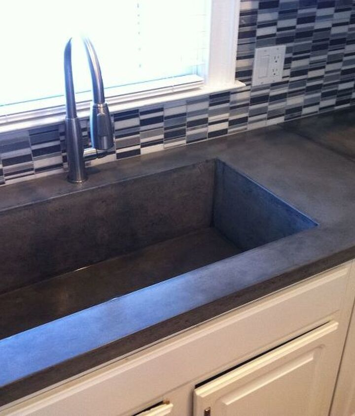 Concrete Countertops with integral sink