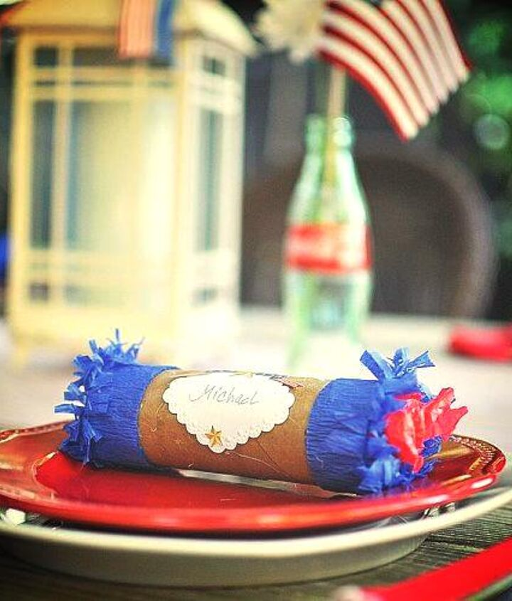 a little vintage touch for your fourth of July table!