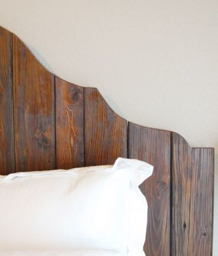 Finished reclaimed wood bed