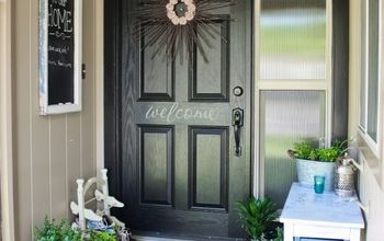 my front porch makeover, doors, home decor, porches, My finished front porch makeover
