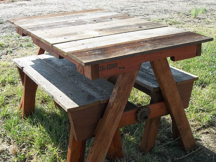 With the benches pushed in this table is perfect for adult gatherings for and extra table at bar-b-ques.