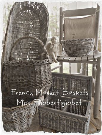 French Market baskets.