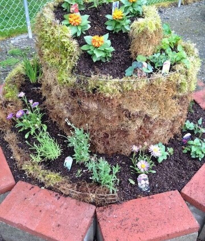 diy spiral herb garden, diy, flowers, gardening