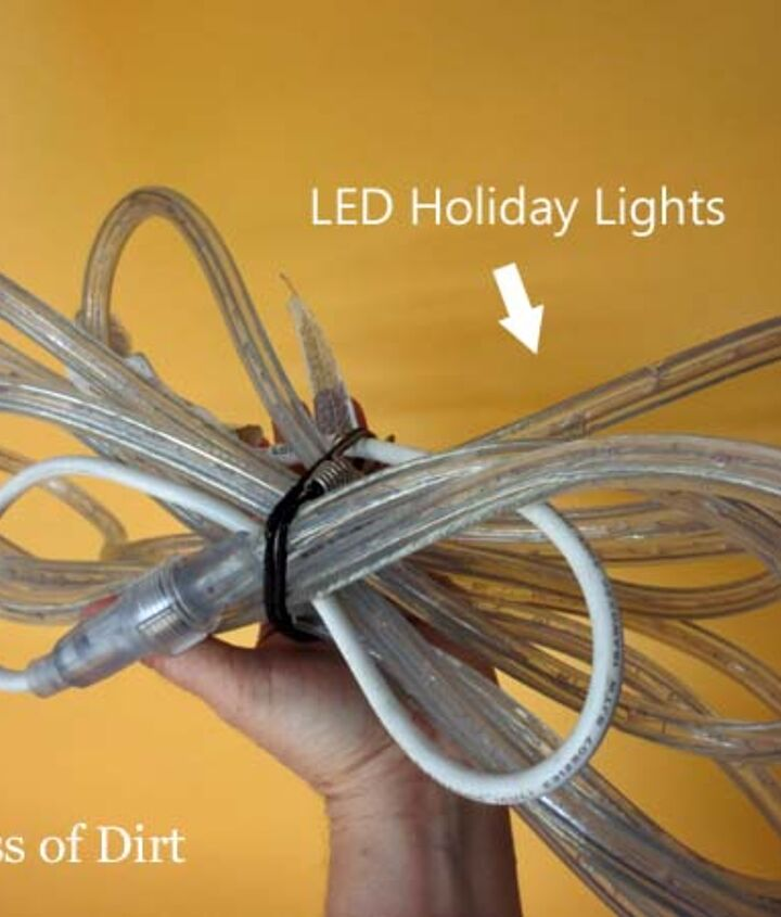 LED rope lights to the rescue. Don't just pack them away after the holiday season!
