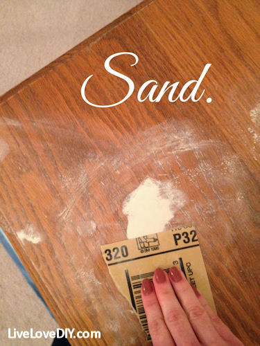 Sand out all the bumps and rough areas.