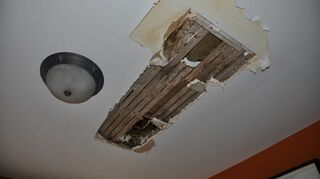 i ve noticed damp spots on 1st floor ceiling what could it be, home maintenance repairs, plumbing, leaks above