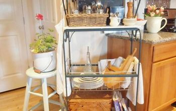 Kitchen Rack from Found Items