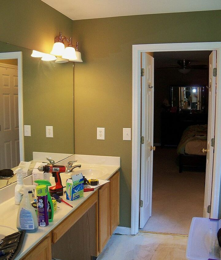 Basic builder grade vanities worked for a while, but it was time to upgrade.