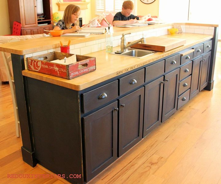 Black Painted Kitchen Island: Black And White Painted Kitchen. Transform Your Kitchen